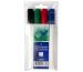 BÜROLINE Whiteboard Marker 1-4mm 223004 4 Farben, Etui