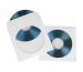 BÜROLINE CD/DVD-Hüllen 124x124mm 306713 weiss, 90g 100 Stück