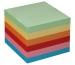 BÜROLINE Zettelbox Papier 90x90mm 376459 farbig ass., 80gr. 700 Blatt