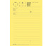 BÜROLINE Telefonblock D/F/I A5 542032 60g gelb 80 Blatt