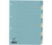 BÜROLINE Register Karton blau/beige A4 663403 1-10