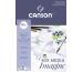 CANSON Imagine Zeichenpapierblöcke A4 200006008 200g, weiss 50 Blatt