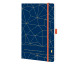 CHRONOPLA Chronobook Origins Lattice 50461Z.21 13.5x21cm 1W/2S, Ocean Blue