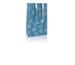CLAIREFON Sack M 17x6x22cm 211719 türkis/silber