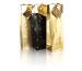 CLAIREFON Flaschensack 12,5x9,5x38cm 212808C schwarz/gold