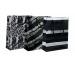 CLAIREFON Sack M 17x6x22cm 212817C schwarz/silber