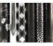 CLAIREFON Geschenkpapier 70x200cm 95895C schwarz/silber 30 Stück