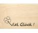 LASEREI Holzgrusskarte HGGL0106 Glück 06