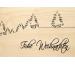 LASEREI Holzgrusskarte HGWE0109 Weihnachten 09