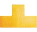DURABLE Stellplatzmarkierung 170004 Form T,100x0,7x150mm,10 St.