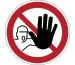 DURABLE Symbol -Zutritt Verboten 173003