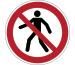 DURABLE Symbol -Fussgänger Verboten 173203