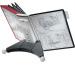 DURABLE Displaysystem SHERPA Table 10 563200 rot/schwarz, 10 Sichttafeln A4