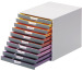 DURABLE Schubladenbox Varicolor 10 -C4 7610/27 farbige Griffe, 10 Schubladen