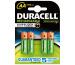 DURACELL Batterien StayCharged AA 26070662 HR6/DX1500 2500mAh 4 Stück