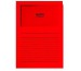ELCO Sichthülle Ordo 120g A4 29489.92 rot, Fenster 100 Stück
