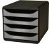 EXACOMPTA Schubladenbox schwarz 310438D 4 Fächer