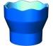 FABER-CA. Wasserbecher CLIC & GO 181510 blau, für Pinsel