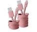 FRESH´N R USB - Micro USB 1.5m 2UMC150DP Fabriq cable Dusty Pink