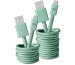 FRESH´N R USB - Micro USB 1.5m 2UMC150MM Fabriq cable Misty Mint