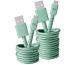 FRESH´N R USB - Micro USB 3m 2UMC300MM Fabriq cable Misty Mint