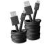FRESH´N R USB - Micro USB 3m 2UMC300SG Fabriq cable Storm Grey