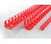 GBC Plastikbindrücken 8mm A4 4028214 rot, 21 Ringe 100 Stück