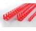 GBC Plastikbindrücken 16mm A4 4028660 rot, 21 Ringe 100 Stück