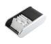 HELIT Visitenkarten-Box H6220499 schwarz/silber 136x240x67mm