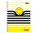 HERLITZ Spiralblock A4 50016082 80 Blatt liniert, SmileyWorld
