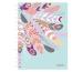 HERLITZ Spiralboutiquebuch A5 50016549 100 Blatt kariert Feathers