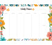 HEYE Weekly Planner Flowers 840163920 DE, 29.5x21cm,