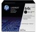 HP Toner-Modul 64X schwarz CC364XD LaserJet P4015 2 Stück