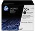 HP Toner-Modul 55X schwarz CE255XD LaserJet P3015 2 Stück