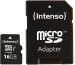 INTENSO Micro SDHC Card PREMIUM 16GB 3423470 with adapter, UHS-I