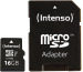 INTENSO Micro SDHC Card PRO 16GB 3433470 with adapter, UHS-I
