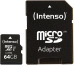 INTENSO Micro SDXC Card PRO 64GB 3433490 with adapter, UHS-I