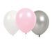 JABADABAD Luftballons B2000 pink/silber/weiss, 9 Stück