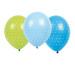 JABADABAD Luftballons Punkte B2005 blau/hellblau/grün, 6 Stück