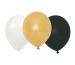 JABADABAD Luftballons B2006 schwarz, weiss, gold