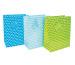 JABADABAD Geschenktasche P18000 blau,grün,hellblau 26.5x33 cm