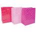 JABADABAD Geschenktasche P18002 pink, rosa, rot 26.5x33 cm