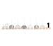 JABADABAD Kerzenzug T238 schwarz, weiss