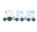 JABADABAD Zug mit Bausteinen W7088 blau 13x41x8cm