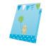 JABADABAD Einladungskarten mit Umschlag Z17004 blau 8 Stück