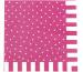 JABADABAD Party Servietten Z17017 pink, 16.6x16.5cm 20 Stück