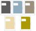 JULIFOLI Mono Business Hüllen A4 MB1SER001 multicolor 5 Stück