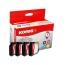 KORES Multipack Tinte CMYBK LC-1000VA zu Brother MFC-240C 4x20ml