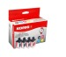 KORES Multipack Tinte CMYBK LC-900VAL zu Brother DCP-110C 23/3x13ml
