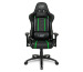 L33T Elite Gaming Chair V3 160477 PU black w/ green stitching